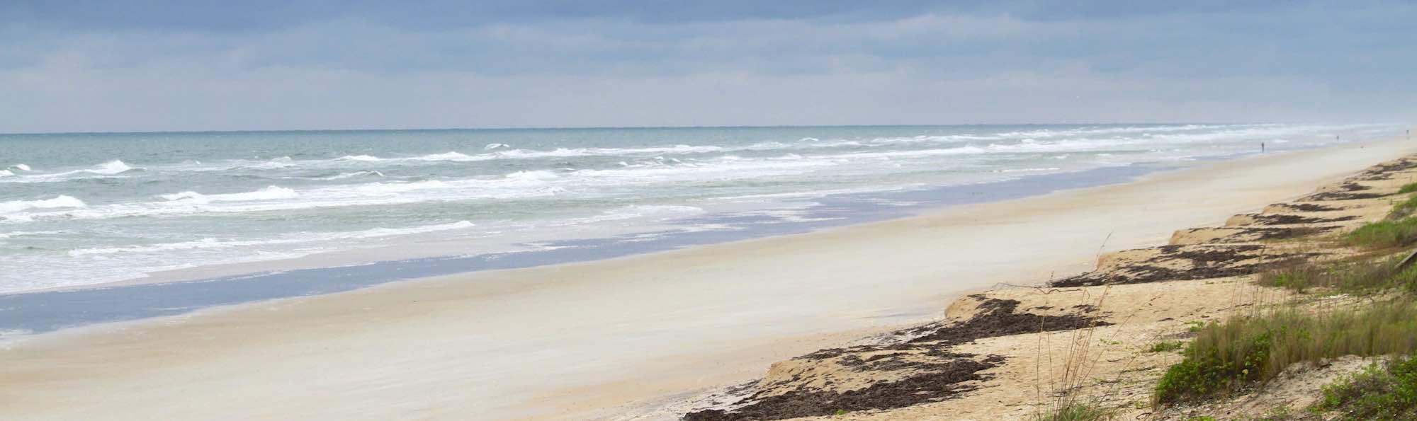 Barrier island beach scene