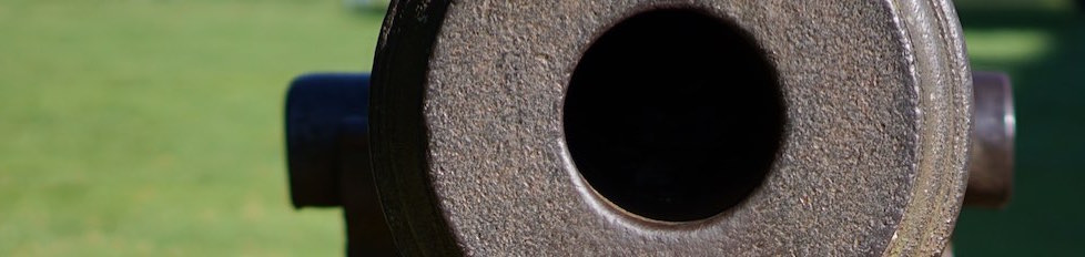 Close up view of a 19th-century cannon (this particular cannon is not on display at Fort Morris).