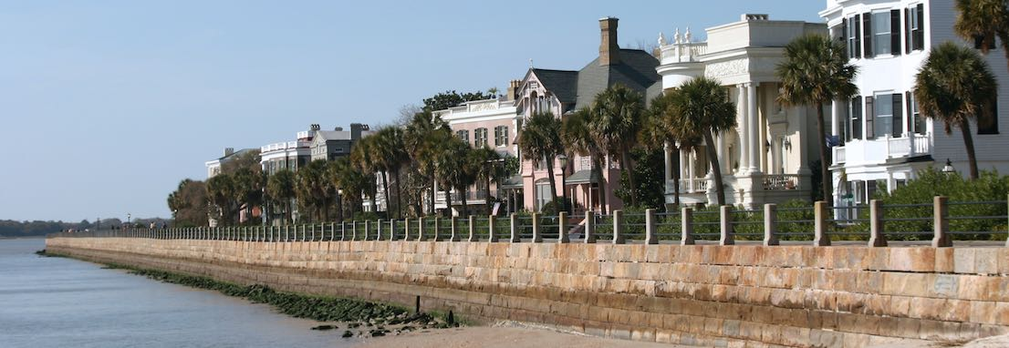 A view of the Battery at Charleston, SC.