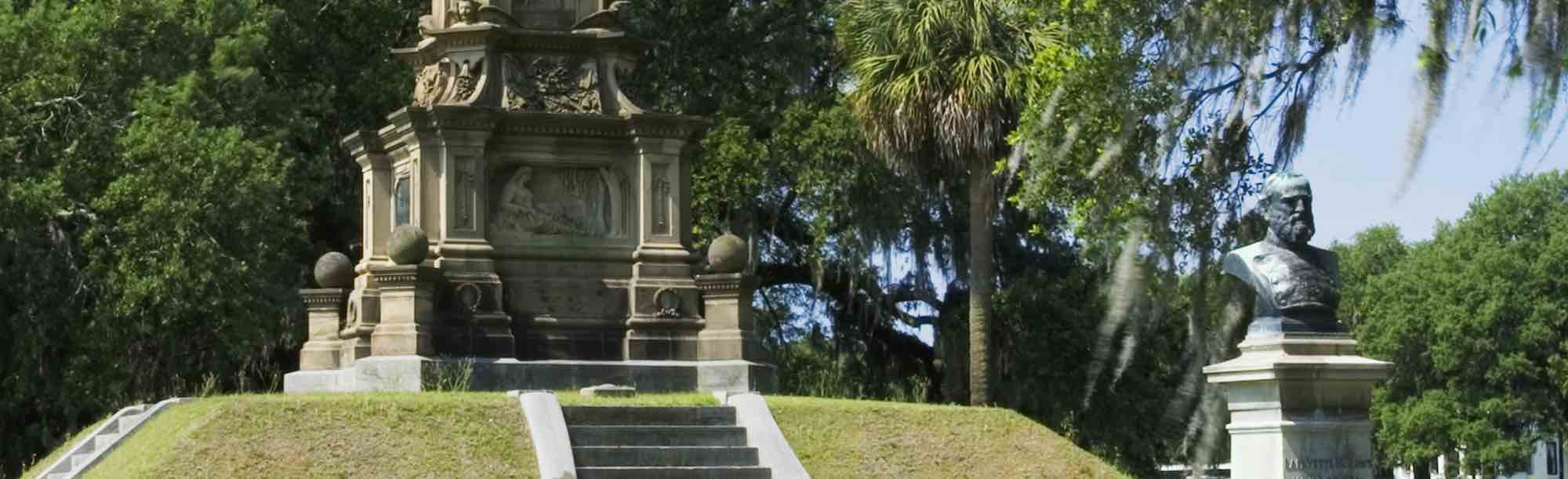 The Confederate Monument in Forsyth Park, Savannah, GA.