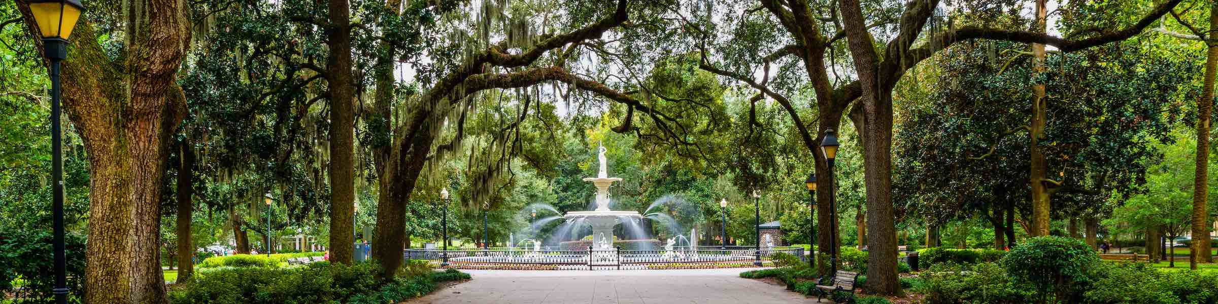 A view of the fountain in Savannah's Forsyth Park.
