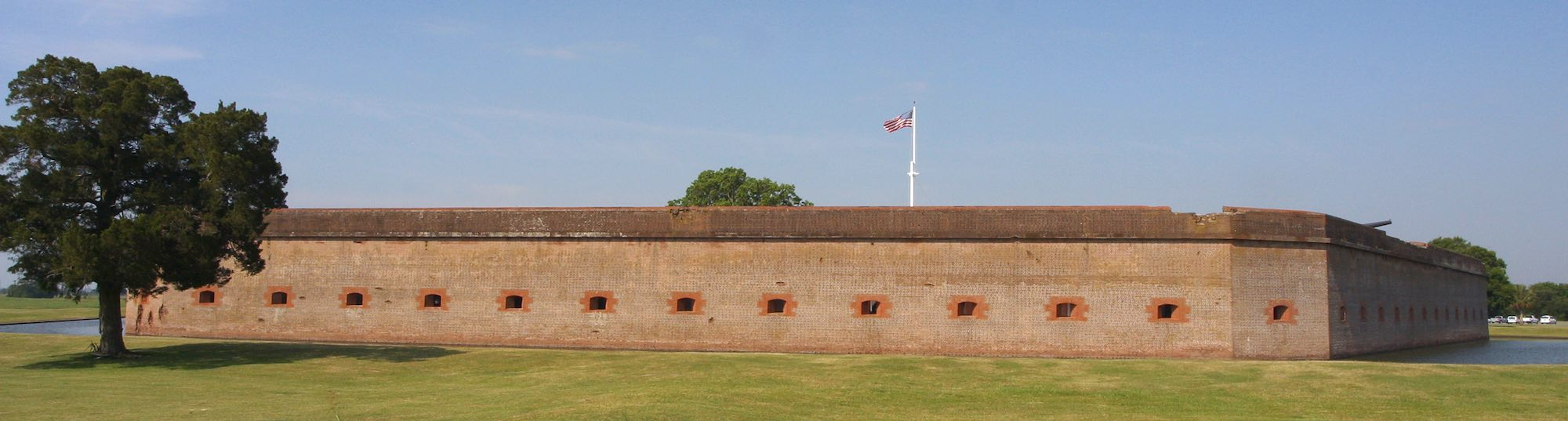 Outer walls of Fort Pulaski National Monument.